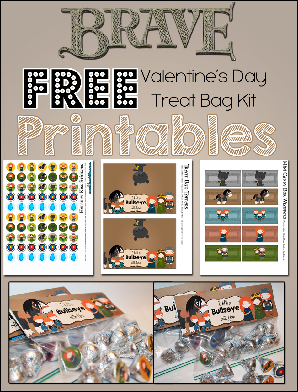 Brave Valentine's Day Treat Bag Kit ~ FREE Printables