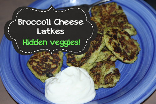 hidden veggies recipe broccoli cheddar latkes