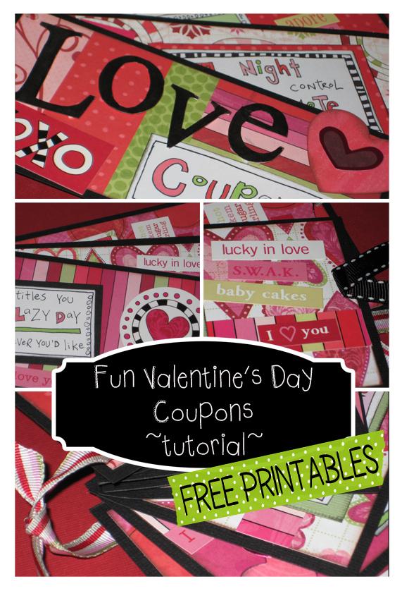 Fun Valentine's Coupons {Paper Craft Tutorial} FREE printables