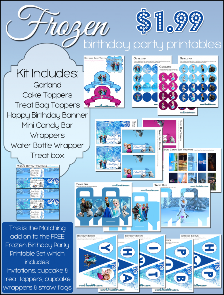 Frozen Birthday Party Printable Kit - $1.99