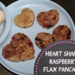 Heart Shaped {healthy} Raspberry Flax Pancakes – Valentine's Day