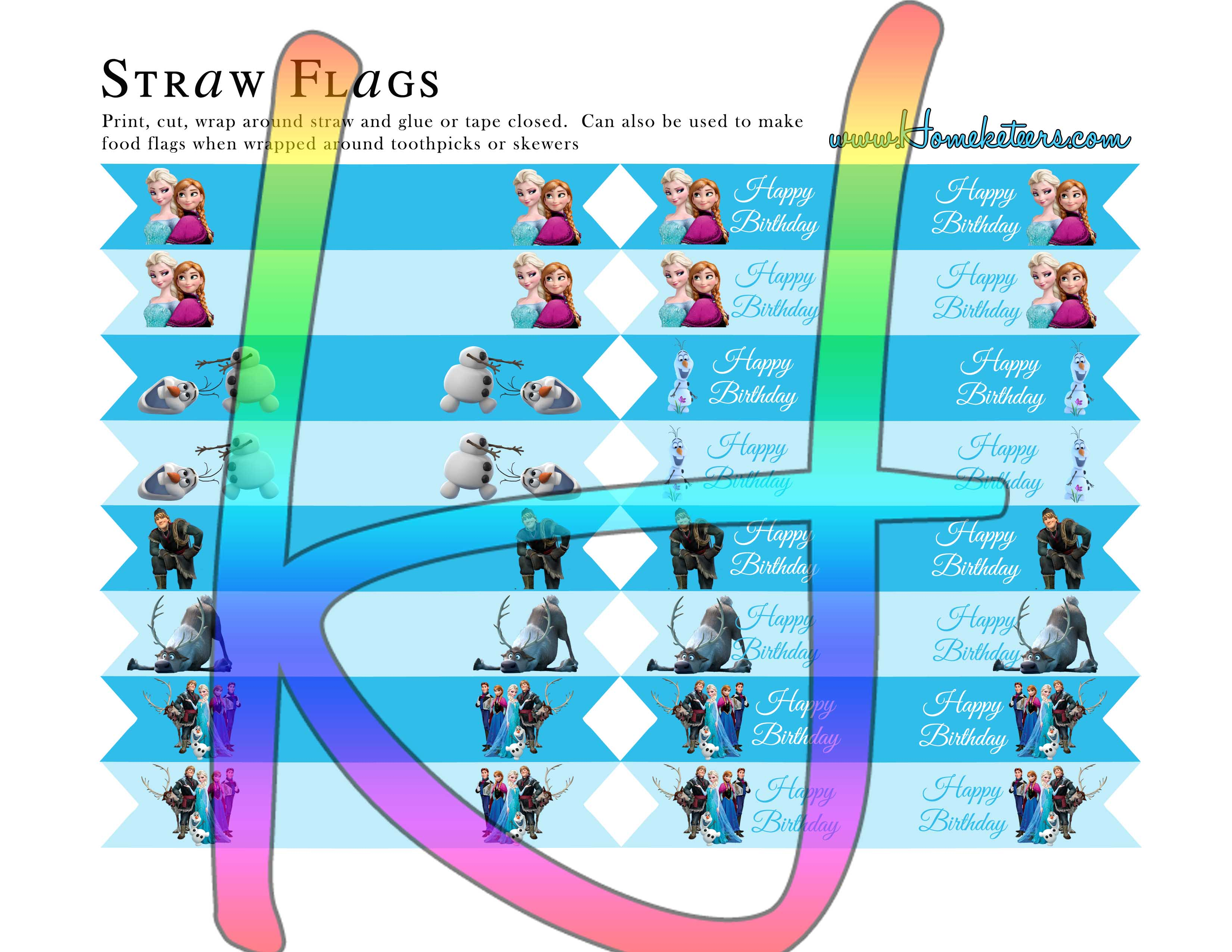 Images of Printables Free Frozen Birthday Party