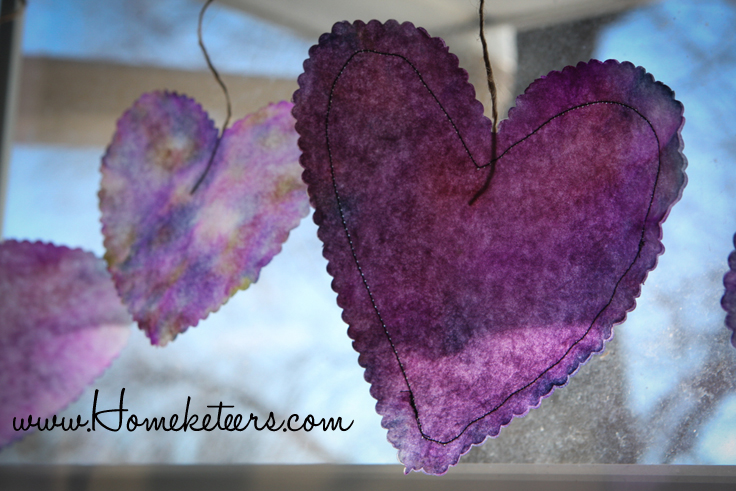 Valentine's Day Decor using Alcohol Inks - 3 Ways - Tutorial Paper Hearts