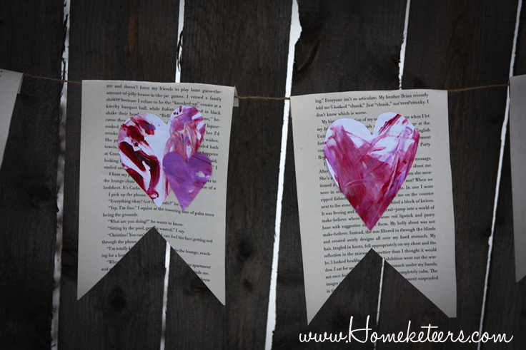 Toddler Art - Easy Valentine's Day Banner Tutorial