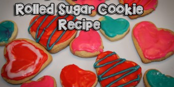 Dairy Free Rolled Sugar Cookies {Valentine's Day}