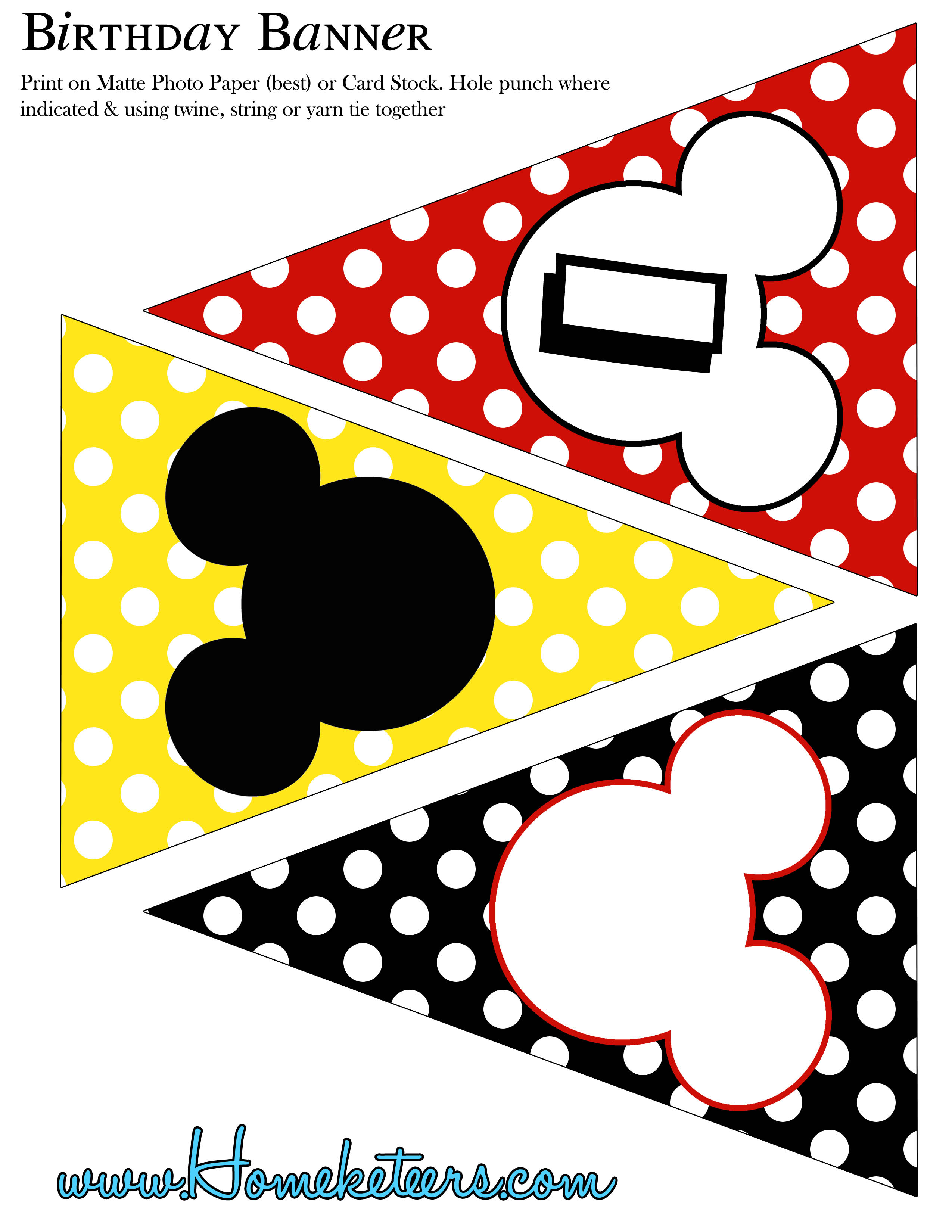 BIG Mickey Mouse Party Printable Kit – Mickey Mouse Party Invitations