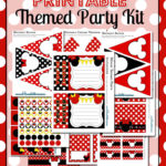 Minnie Mouse Party Printable Kit - Red {FREE}