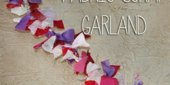 Quick and Easy Fabric Scrap Garland Valentine's Day