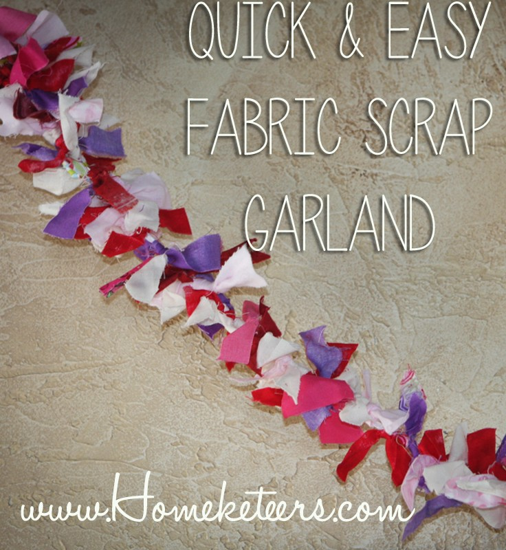 Valentine's Day DIY Easy Fabric Scrap Garland Kids Craft