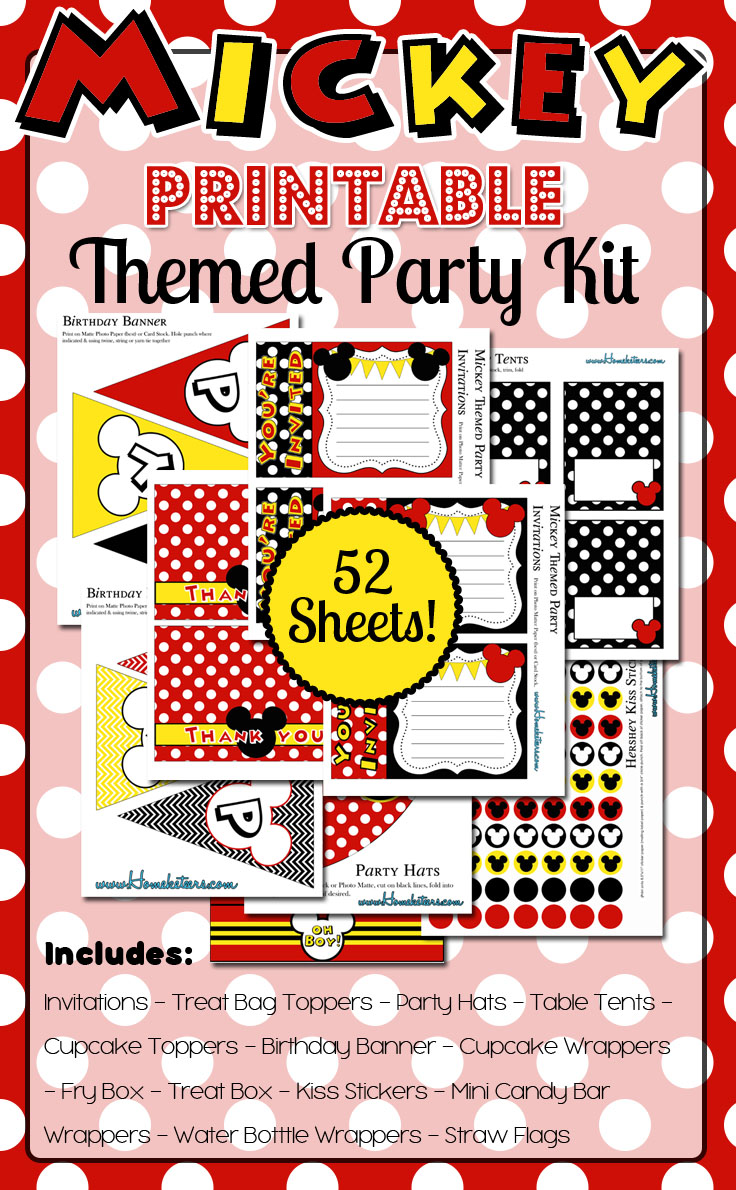 HUGE Mickey Mouse Printables Party Pack