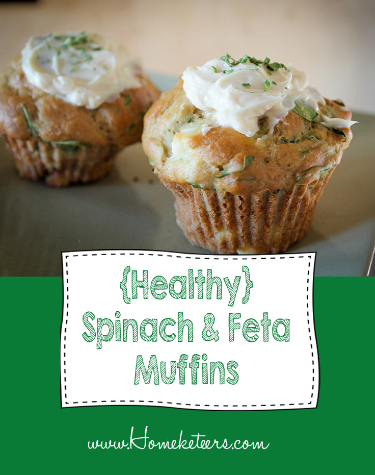 Spinach and Feta Muffins {Healthy Recipe} St Patrick's Day