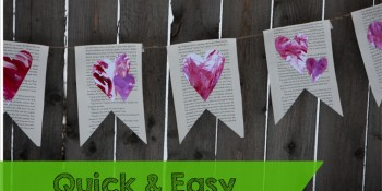 Toddler Art – Easy Valentine's Day Banner Tutorial
