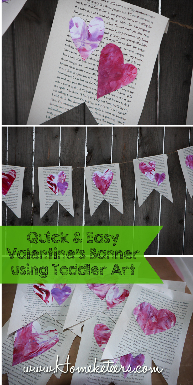 Toddler Art – Easy Valentine's Day Banner Tutorial