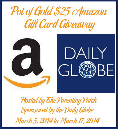 2014-03-05 Pot of Gold $25 Amazon Gift Card Giveaway