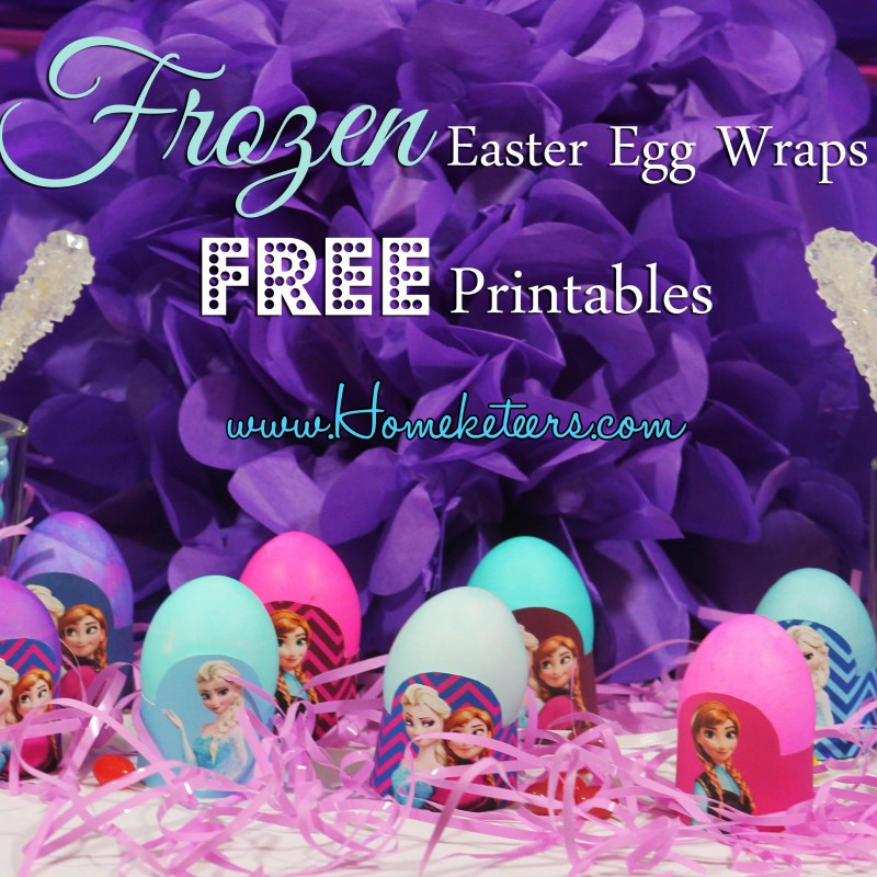 Frozen Easter Egg Wrap Printables {FREE}