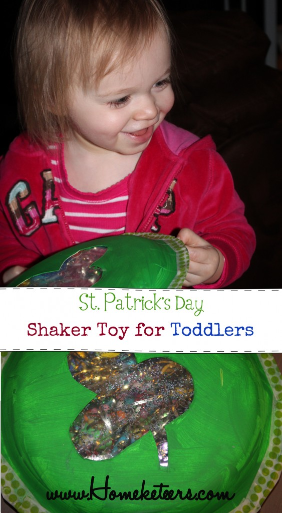 DIY St Patrick's Day Toddler Shaker Toy Kids Craft
