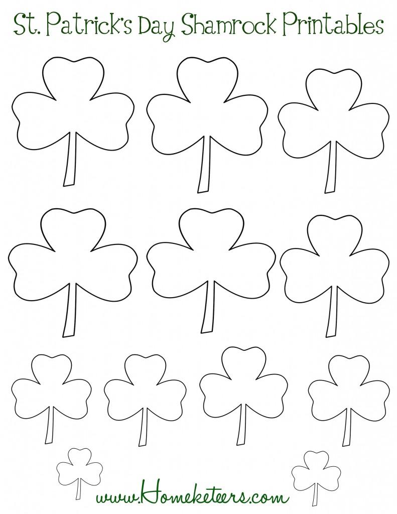 Free St. Patrick's Day Shamrock Printables