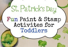 DIY St. Patrick's Day Fun Toddler Painting Activities