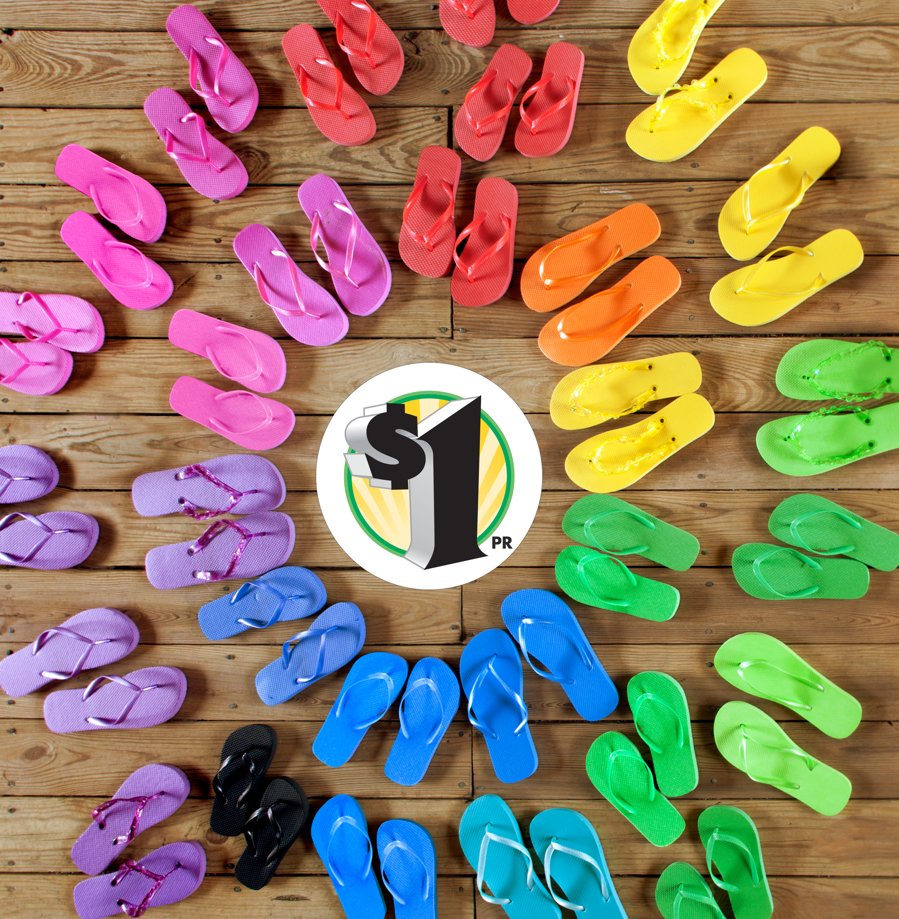#ad #DTSneakPeek Dollar Tree Summer Fun Flip Flops for only $1