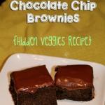 Peanut Butter Chocolate Chip Brownies {Hidden Veggies Recipe}