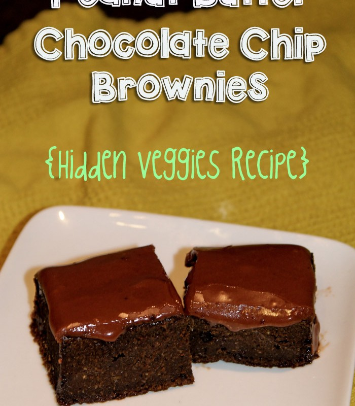 Peanut Butter Chocolate Chip Brownies {Hidden Veggies Recipe}