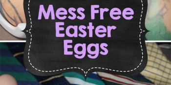 Mess Free Easter Eggs {Using Silk Ties}