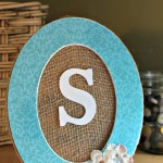 DIY Monogram Frame