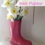 Easy Upcycled Boot Planter
