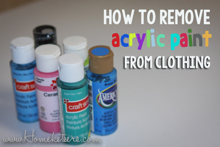 How to Remove Acrylic Paint from Clothing