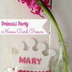Princess Party Crown Place Cards
