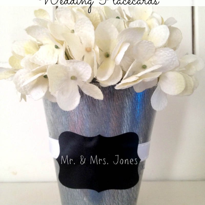 Chalkboard Planter Wedding Place Card