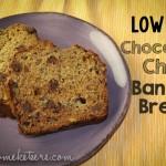 Chocolate Chip Banana Bread {Low Fat}