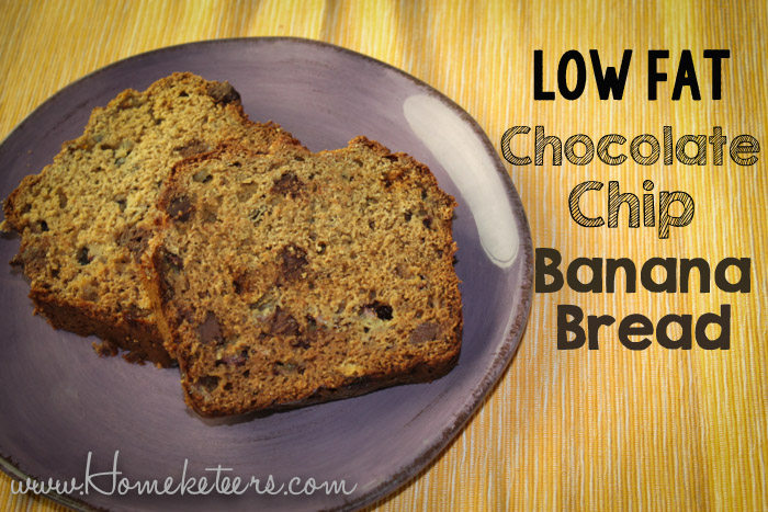 Chocolate Chip Banana Bread {Low Fat}