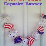 4th of July Day Cupcake Banner