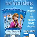 Personalized Frozen Movie Ticket Invitations Only $1.99!