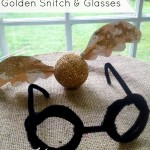 Harry Potter Crafts: Golden Snitch and Harry Glasses