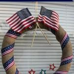 Easy DIY Patriotic Wreath from a Pool Noodle