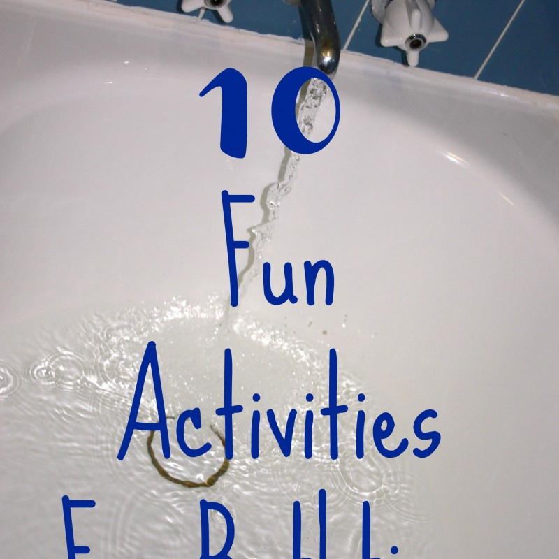 10 Ideas For Bathtub Fun