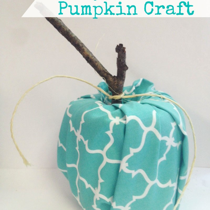 DIY  Pretty Fabric Pumpkin
