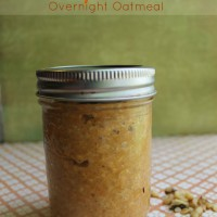 Overnight Oatmeal - Pumpkin Pie