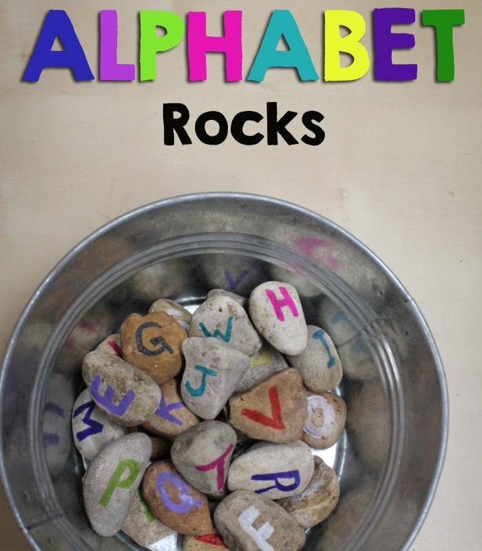 DIY Easy Painted Alphabet Rocks