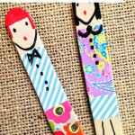 Washi Popsicle Stick Dolls