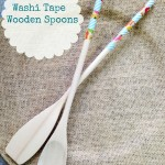 DIY Washi Wooden Spoons