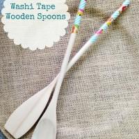 DIY Washi Wooden Spoons
