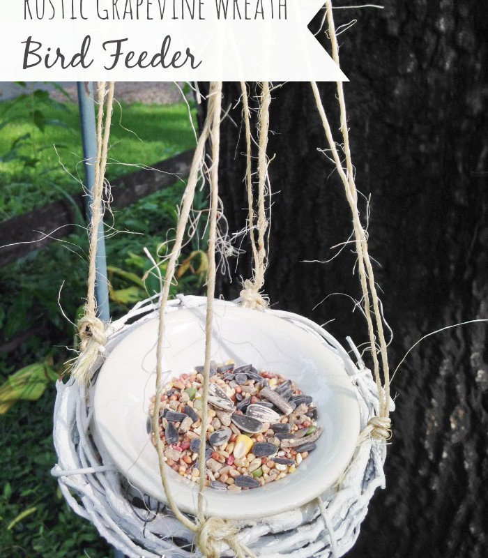 Easy DIY Grapevine Bird Feeder