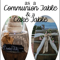 Wine Barrels - From Cake Tables to Communion Tables
