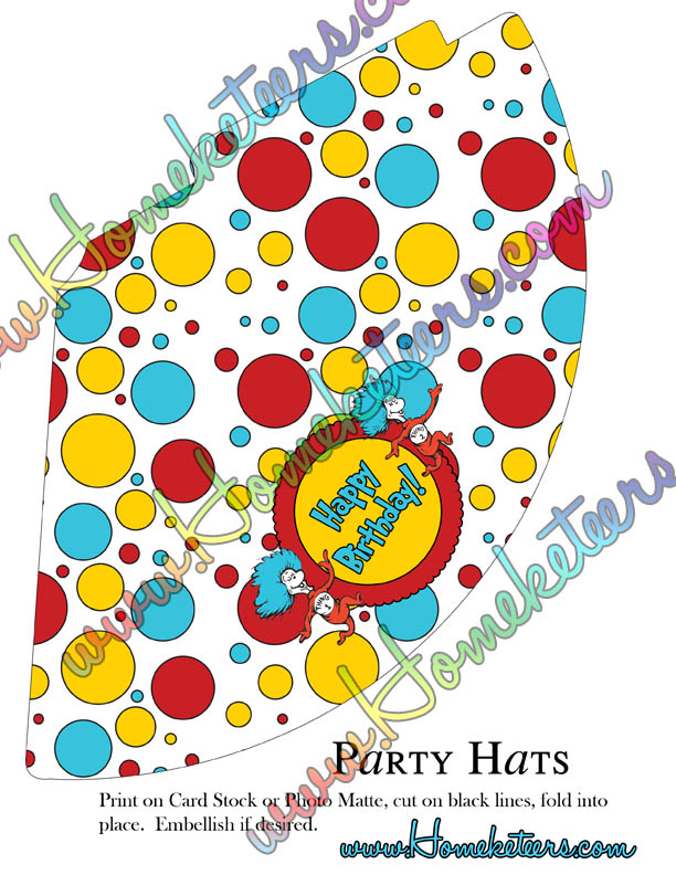 Dr Seuss Tie Template Dr. Seuss Thing 1 and 2 Free Printables - Dr ...