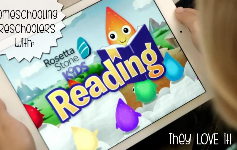 Homeschooling Preschoolers with Rosetta Stone Kids Reading – LOVE it!