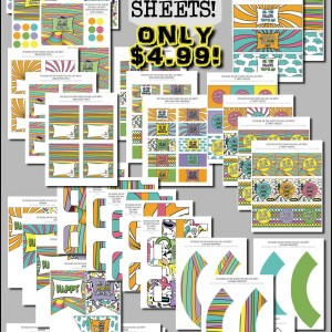 Dr Seuss Oh the Places You'll go Party Prntables Kit only $4.99 for 45 sheets!